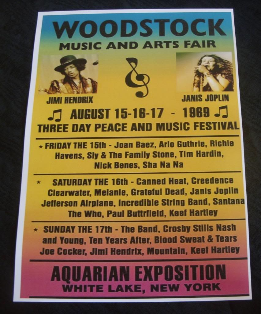 Woodstock Festival Poster 1969 With Images Woodstock Festival