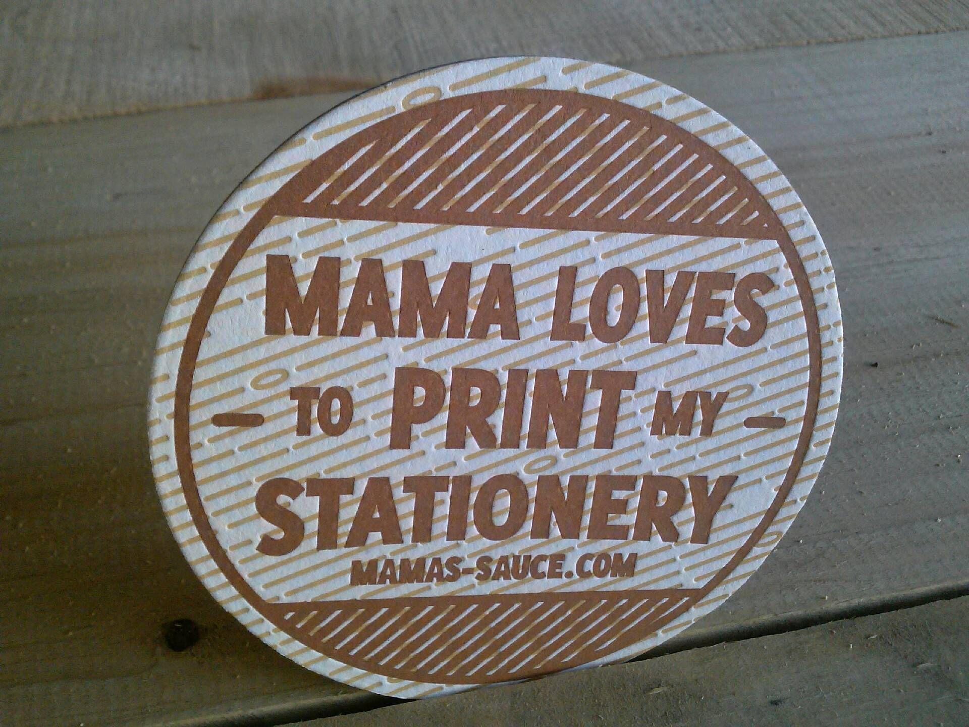 Deep impression plus appealing design by Mamas-Sauce.com