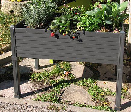 Mesa de huerto de pvc antracita 3 compartimentos leroy merlin cultiva tu huerto pinterest - Leroy merlin jardin urbano marseille ...