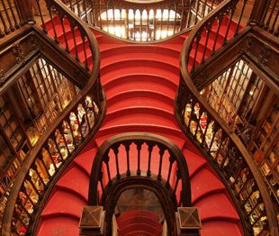 the famous #Lello bookstore staircase in #Portugal
