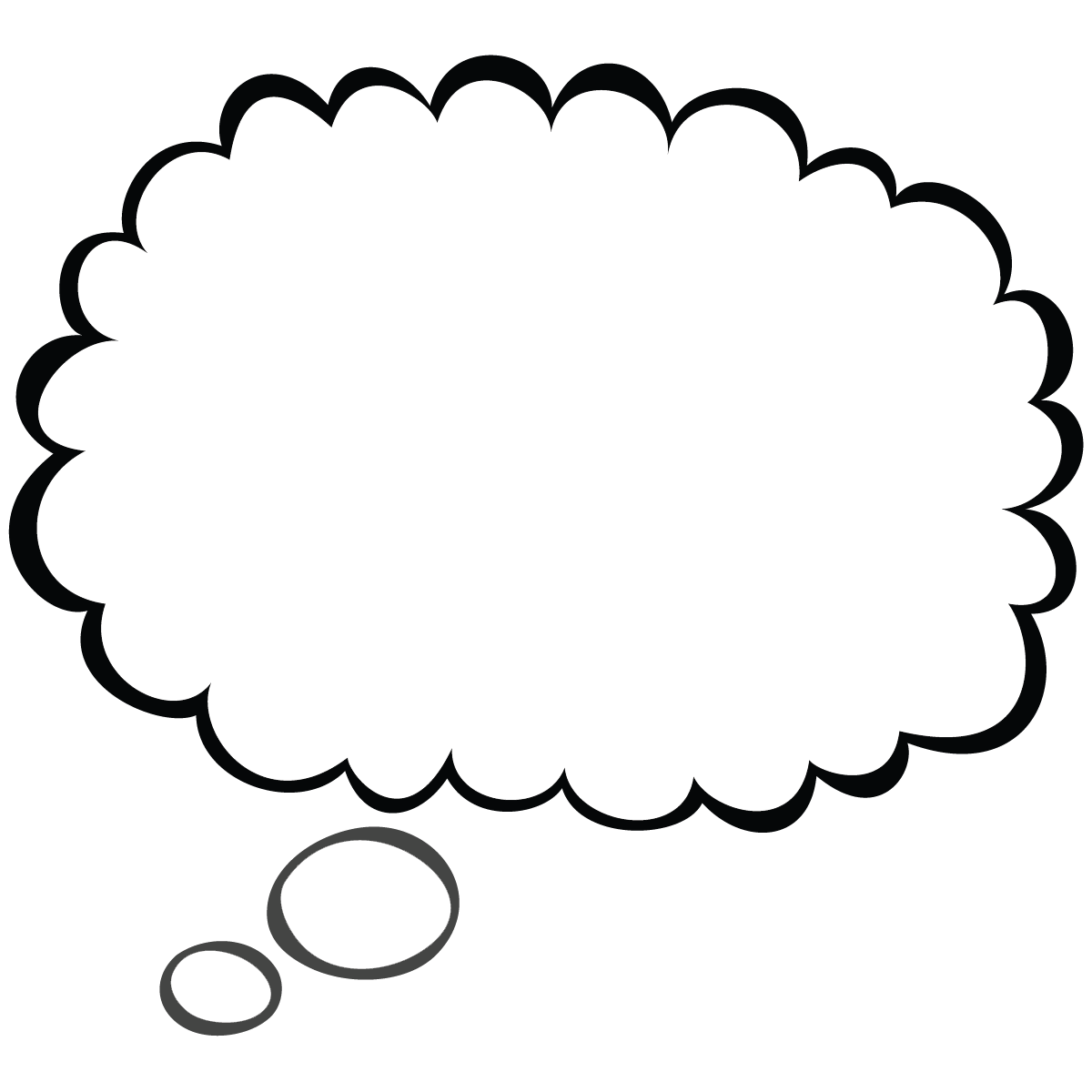 Thought bubble word bubble cartoon speech clip art high quality 4