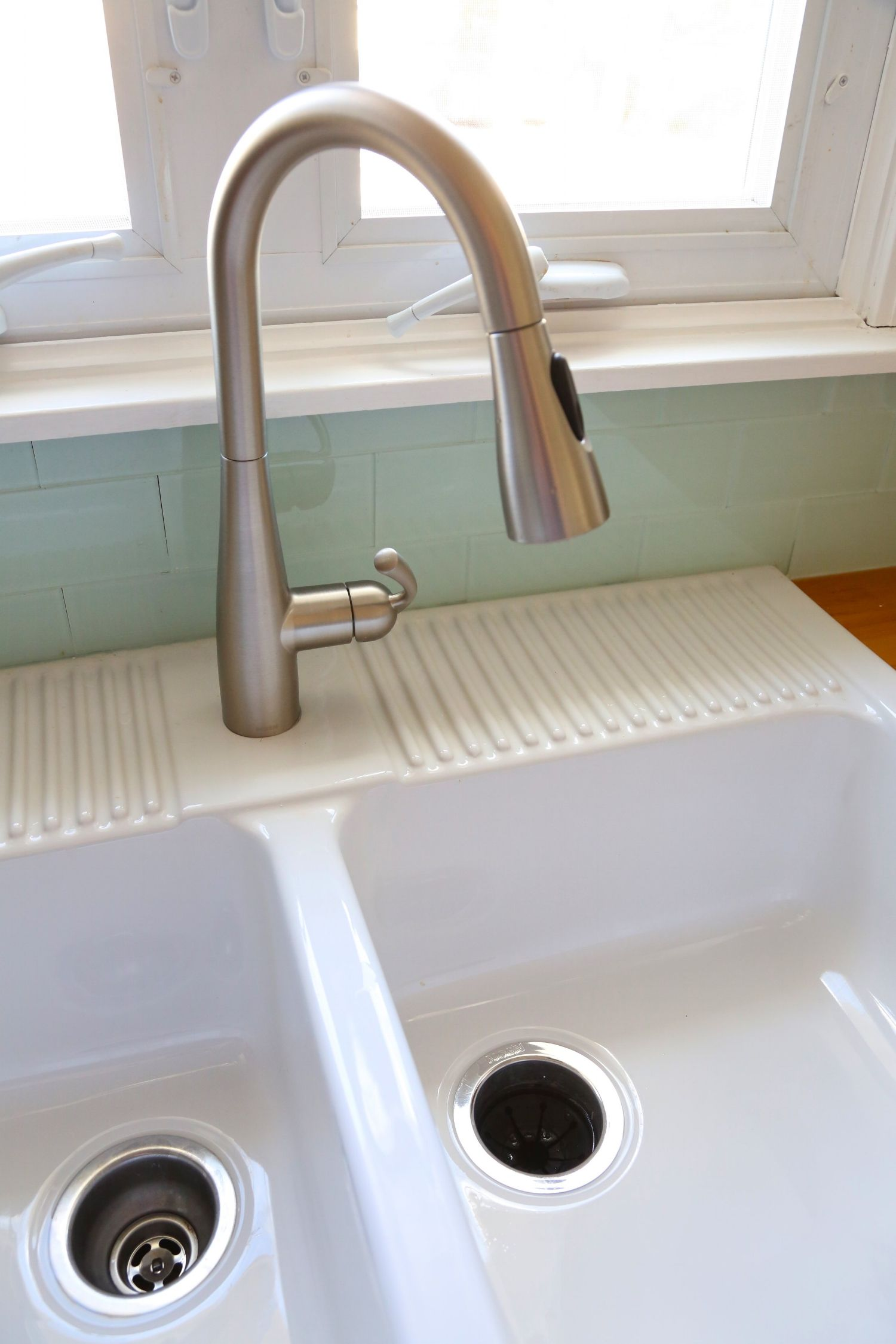 Installing an Ikea farmhouse sink | Apron front sink, Custom ...