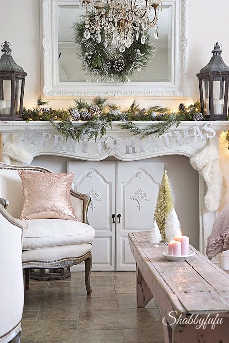15  Blogger Christmas Home Tours to give you lots of inspiration. Shabby chic, traditional, farmhouse Christmas and more on shabbyfufu.com #bloggerhometours #christmastours #bestchristmashomes #christmas2019 #christmasdecorideas