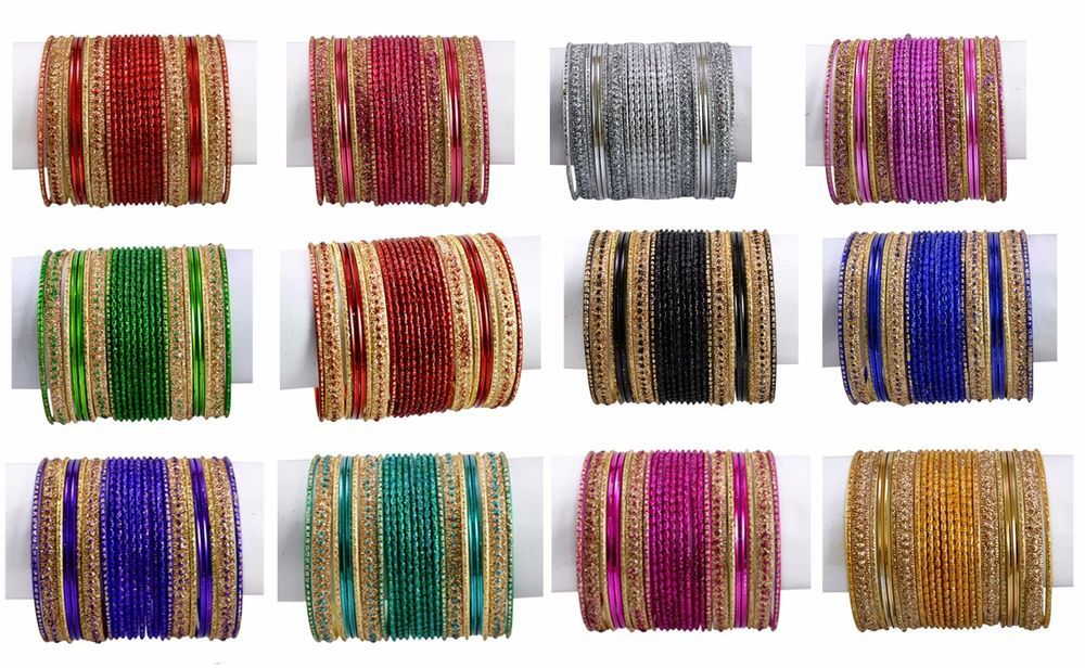 Pink Color Indian Trditional Bollywood Fashion Party Wear Metal Bangles Chudi