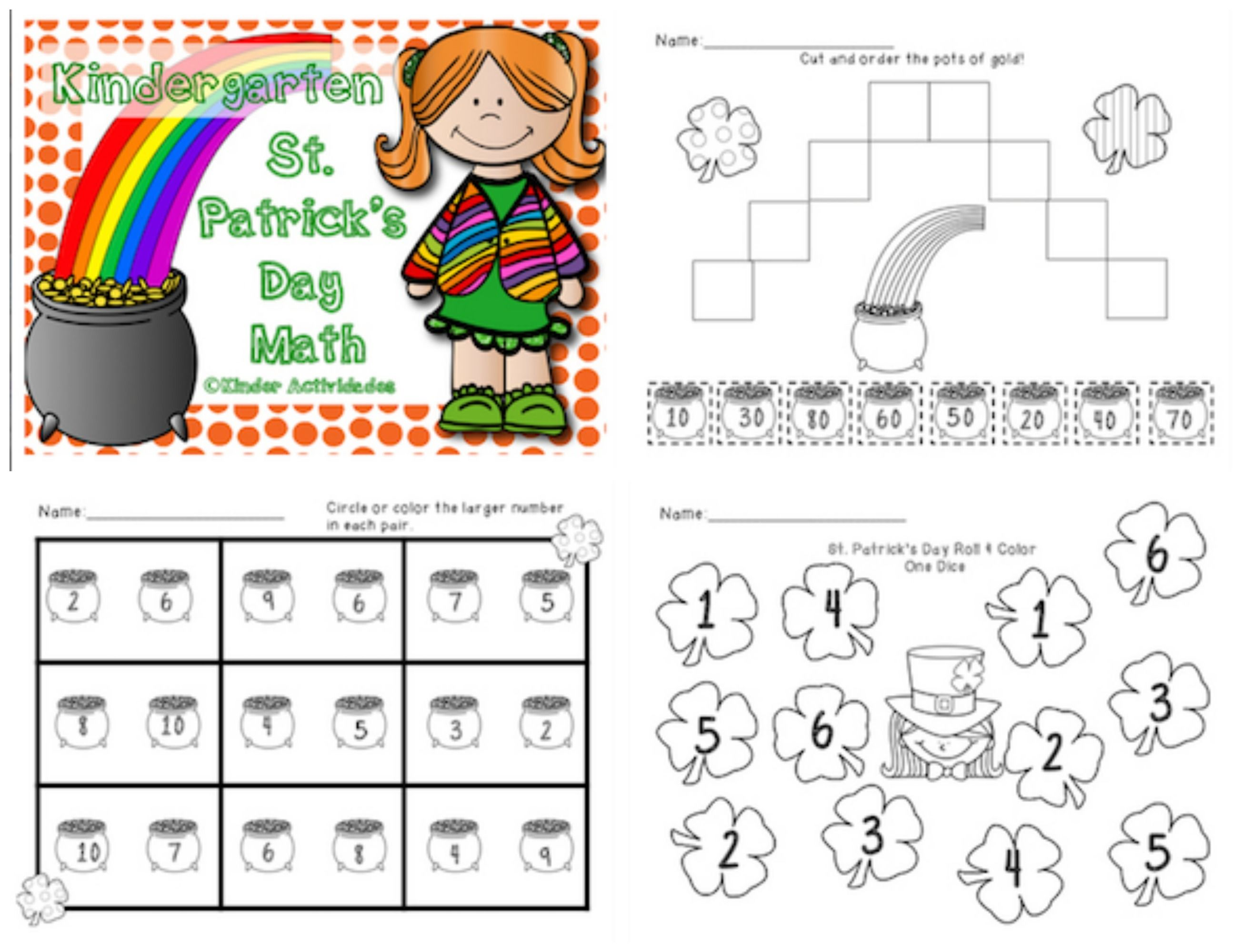 St Patrick S Day Math Activities