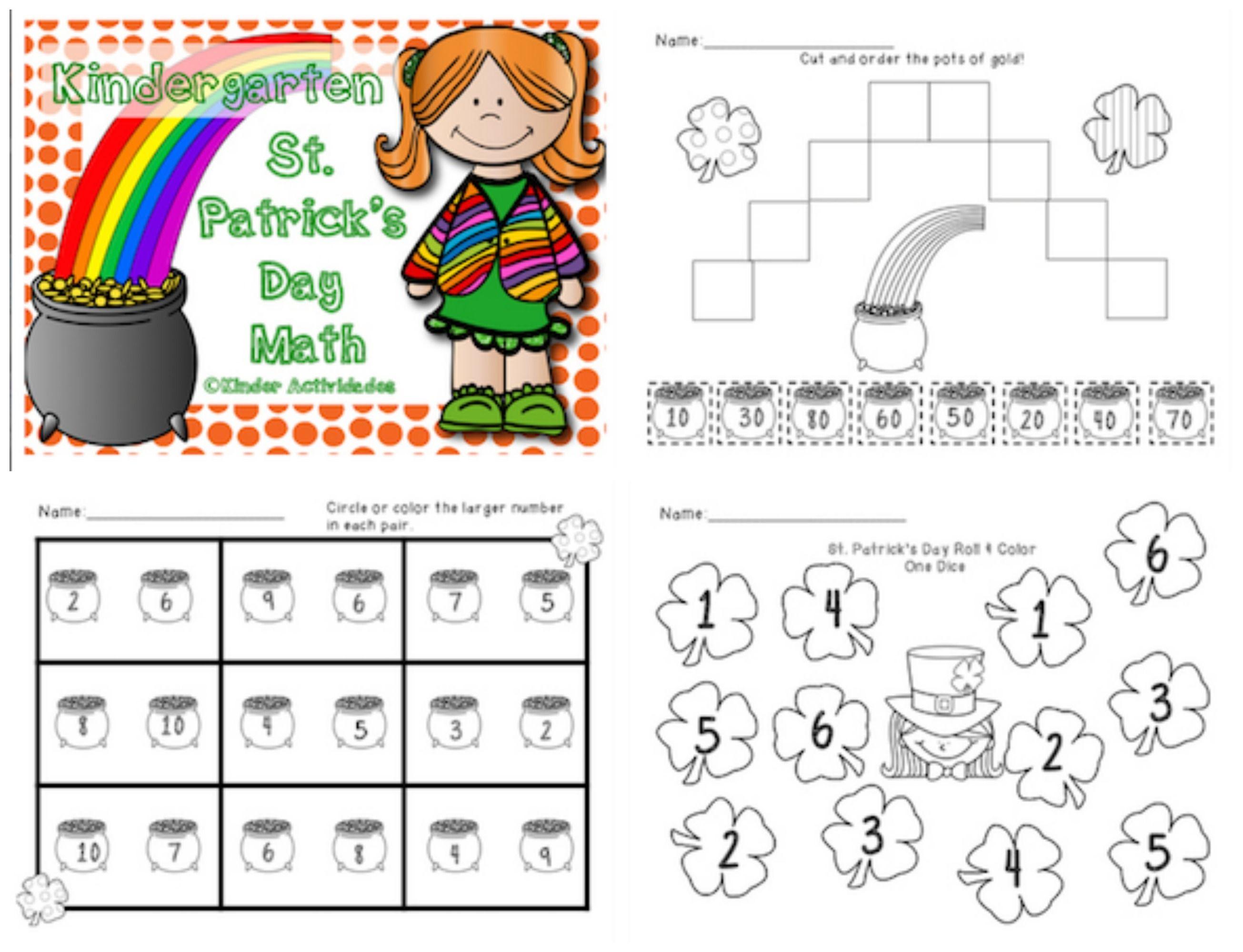 St Patrick S Day Math Activities