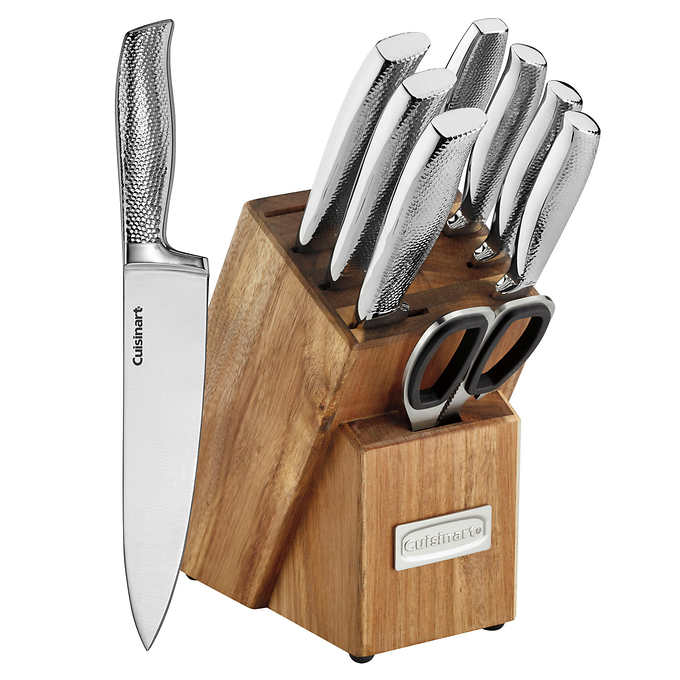Cuisinart 10 Piece Hammered Handle Knife Block Set In 2020 Knife Block Set Hammer Handles Knife Block