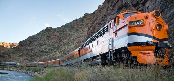 A journey on the Royal Gorge Route Railroad is one of the highlights of a number of our rail holidays in the USA. http://www.greatrail.com/train-journeys-of-the-world/royal-gorge-railroad.aspx