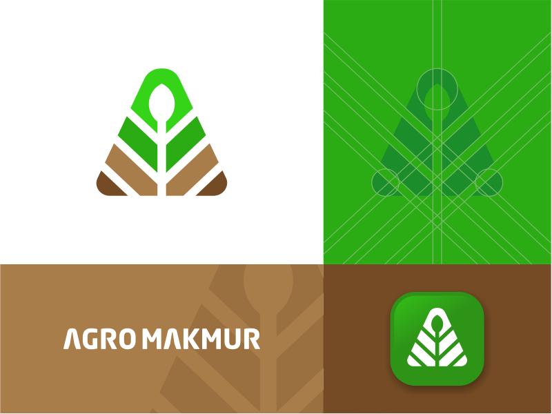 Agro Makmur in 2020 Monogram logo design, Monogram logo