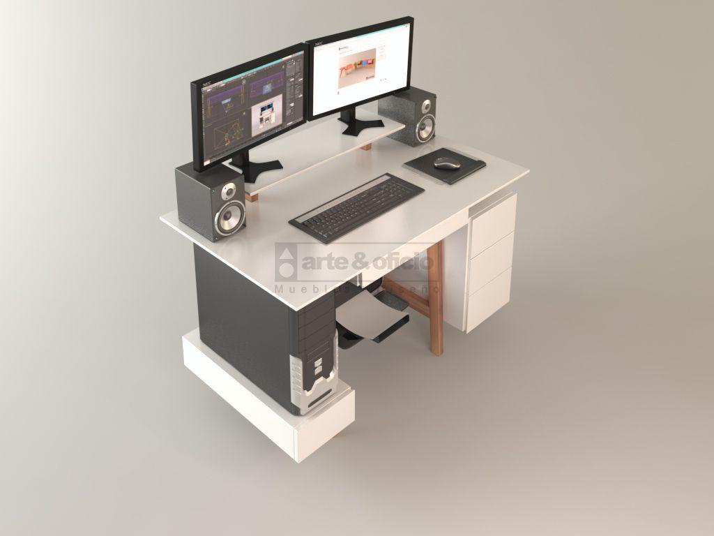 Escritorio workspace calden vista superior con for Escritorio ergonomico caracteristicas