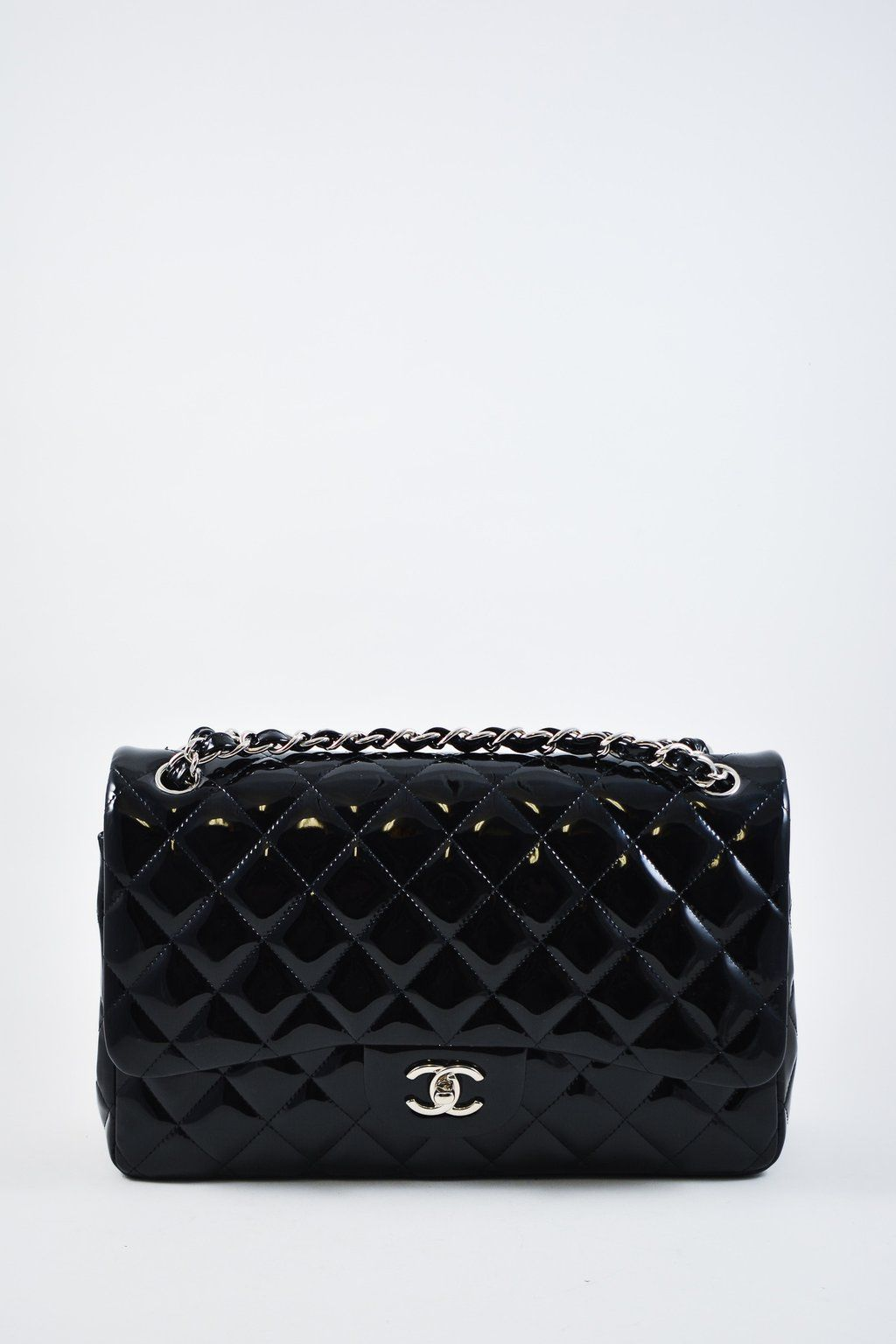 089b1dabbc803a Chanel Black Jumbo Patent Double Flap Bag #MineAndYours. Chanel Black Jumbo  Patent Double Flap Bag #MineAndYours Designer Consignment ...