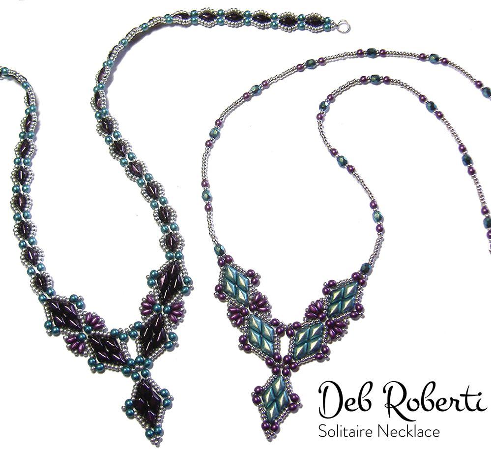 Solitaire Necklace   Bead-Patterns.com