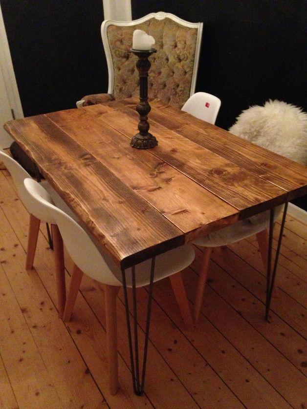 120x80cm industrial,usedlook, handmade Tisch Diy design - esstische aus massivholz ideen