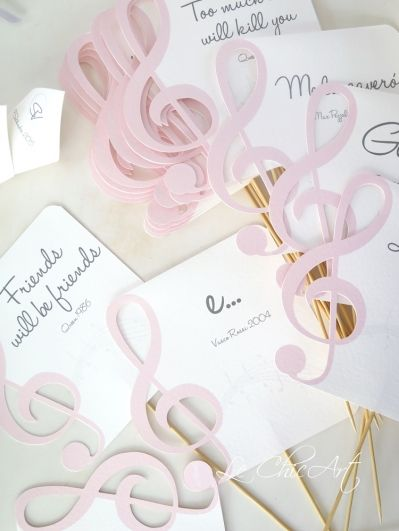 Segnaposto Matrimonio Musica.Segna Tavolo In Tema Musica Musica Per Matrimoni Matrimoni A