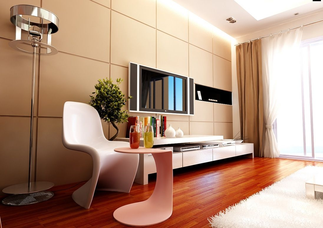 Design of Modern Contemporary Living Rooms  Modular Wall Papers Room