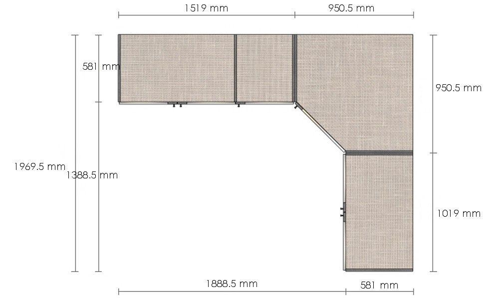 Dressing du0027angle Solano - L 250 x l 200 x h 220 x p 58 cm - chêne