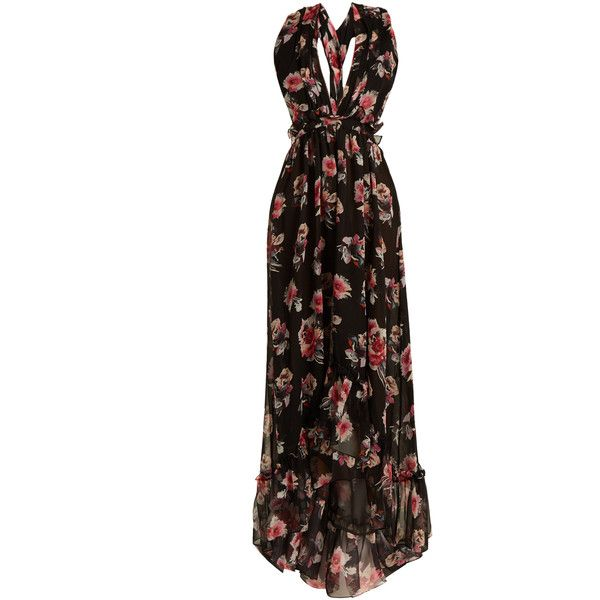 Black dress with floral print Msgm With Mastercard Buy Cheap Browse Outlet Buy YGa8DVo