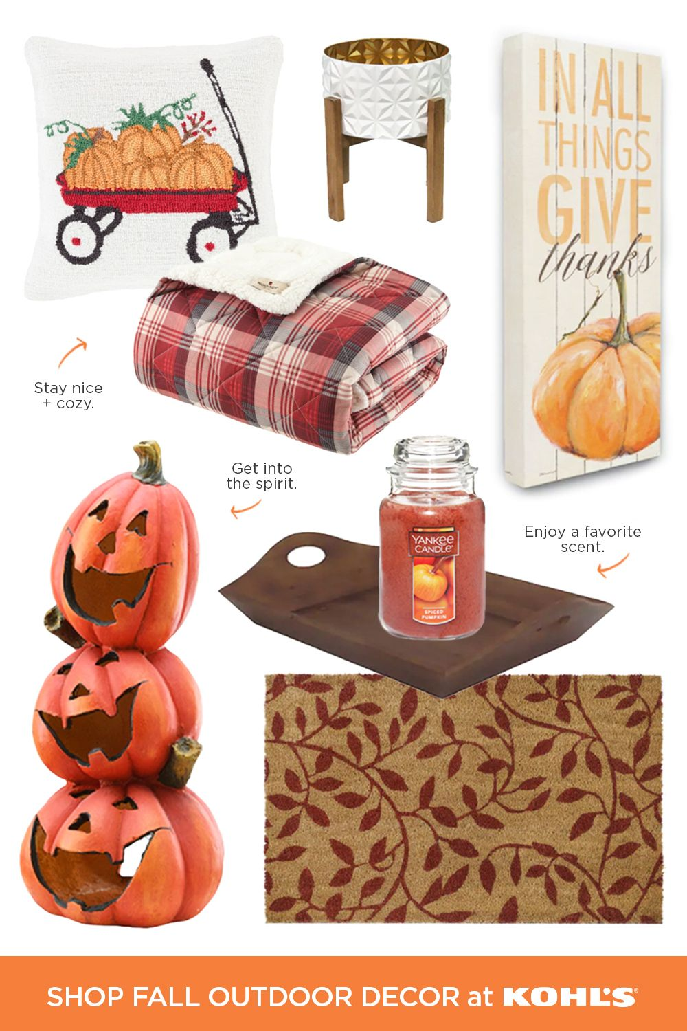 Find Fall Outdoor Decor At Kohl S In 2020 Fall Thanksgiving Decor Fall Outdoor Decor Fall Decor Diy
