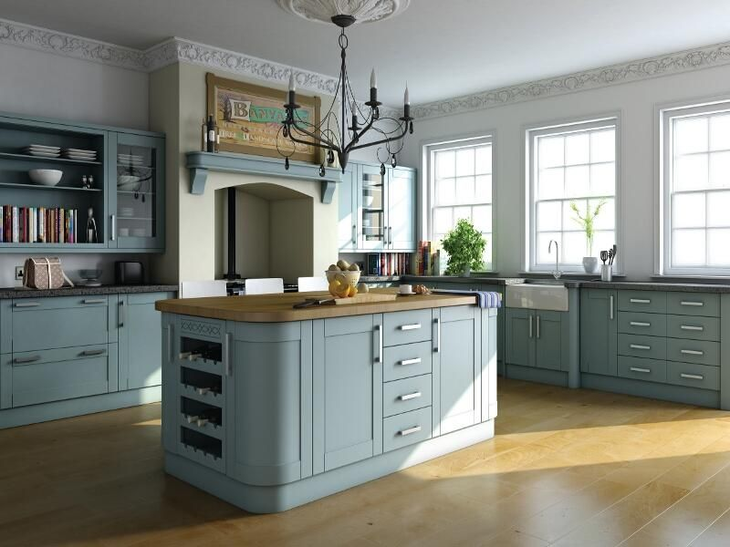 For A Traditional Design, Choose These Smart Shaker Style Fitted Kitchens  In Painted Vinyl.