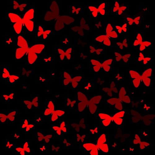 Red Butterfly Black Layout Jpg Jpeg Image 500 500 Pixels Red Butterfly Red Images Black And Red