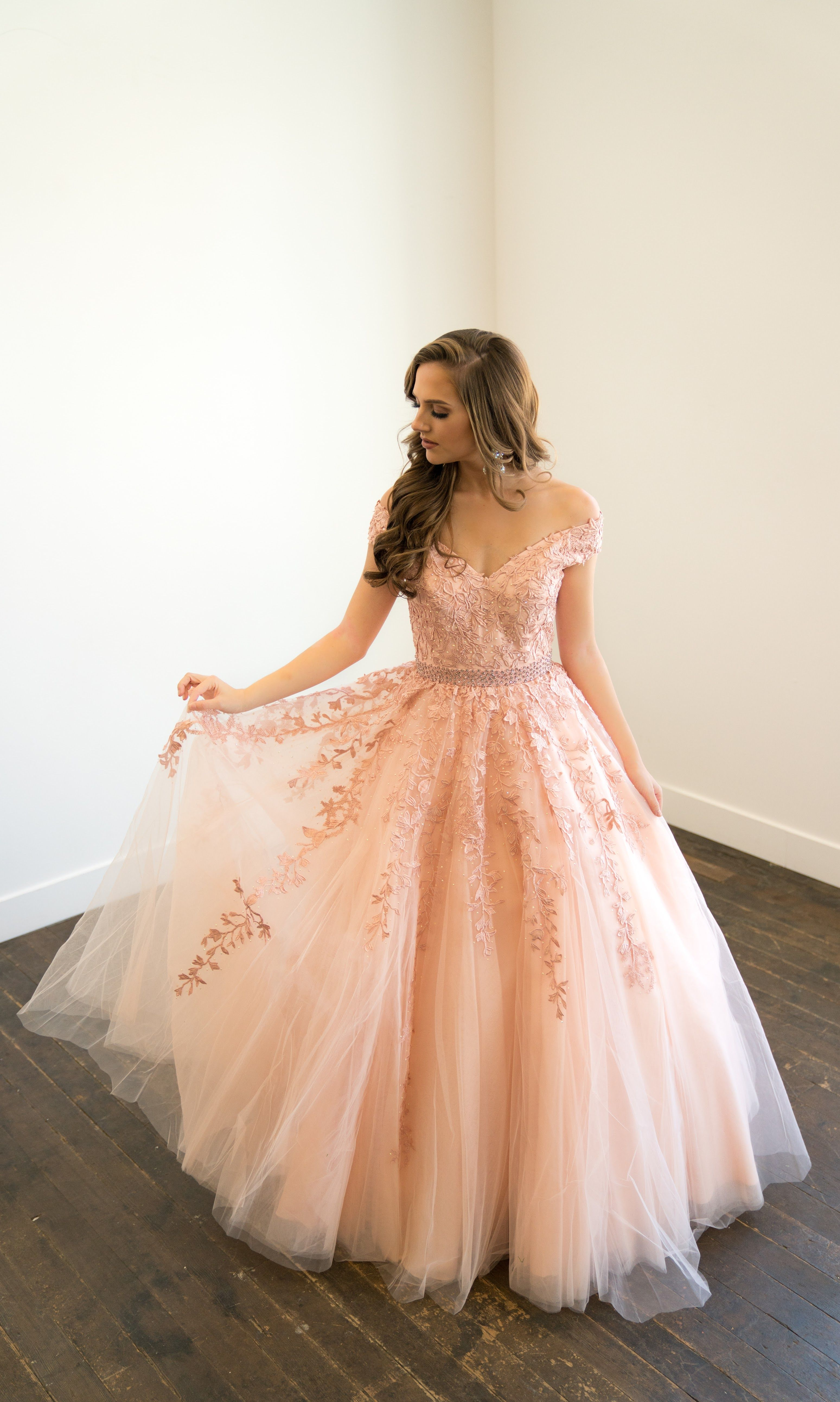 2d3fe79c39e SHERRI HILL 51905 Spring 2018 Collection YPSILON DRESSES Blush Light Pink  Ballgown Floral Appliqué Prom Pageant Evening Wear Formalwear