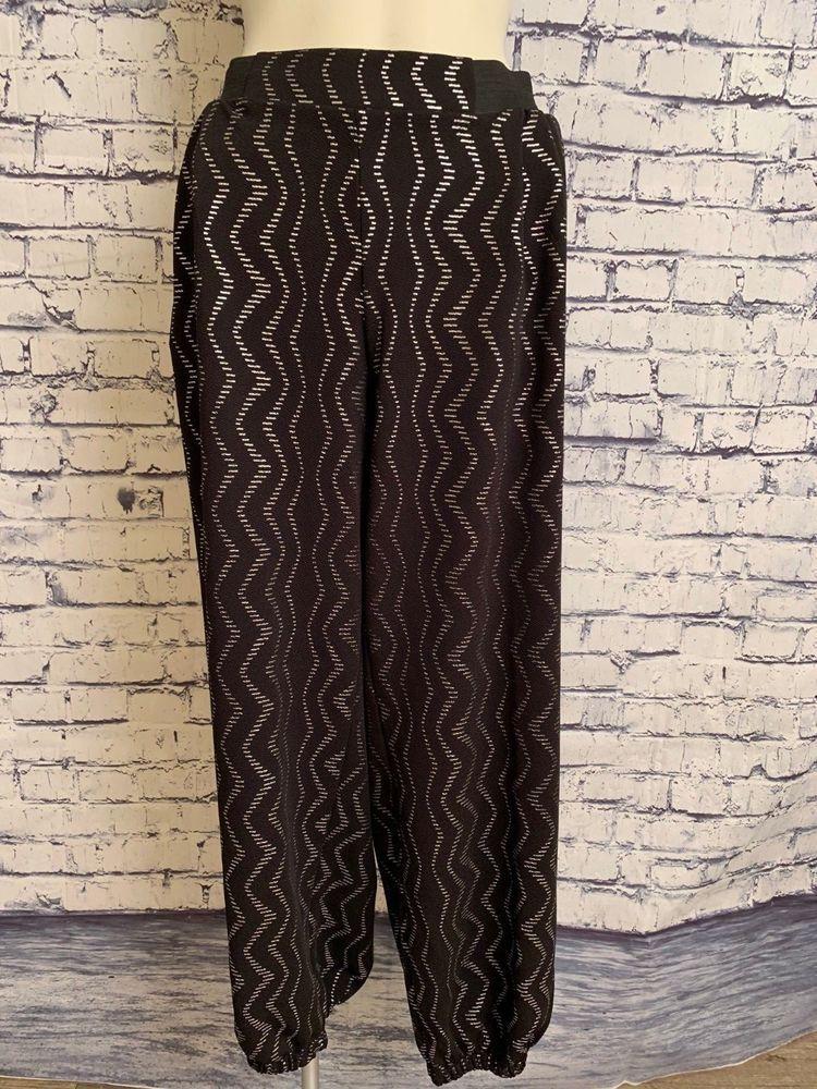 be548b1de10 Ashley Stewart Women Black Silver Plus Size 26 Harem Style Elastic Waist  Pants  AshleyStewart  Harem  Casual