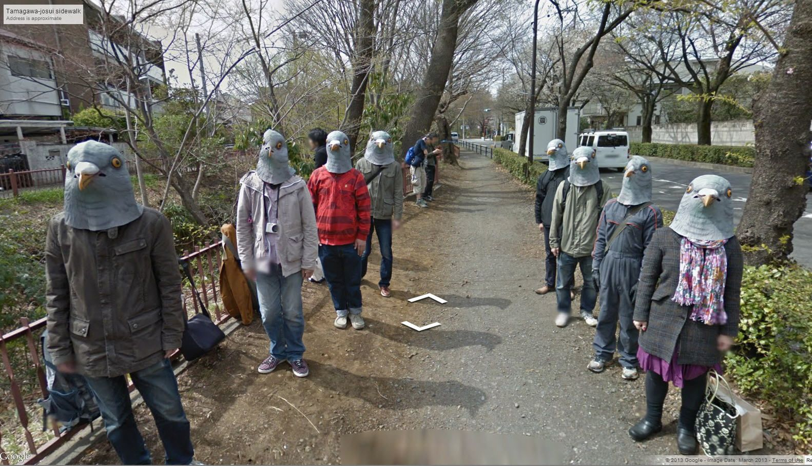 This has got to be the strangest Google Street View ever