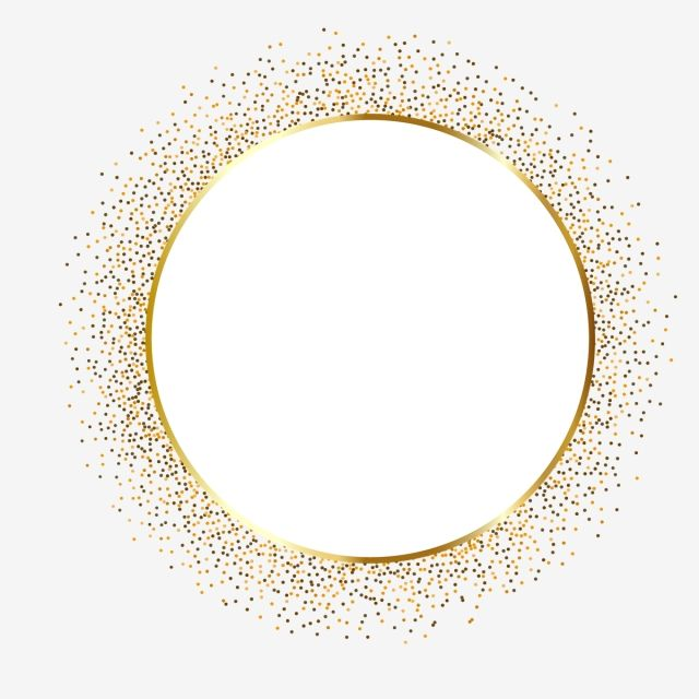 Gold Circle Frame Border Design Border Clipart Gold Glitter Png And Vector With Transparent Background For Free Download Circulo De Ouro Molduras De Luxo Logotipo De Loja