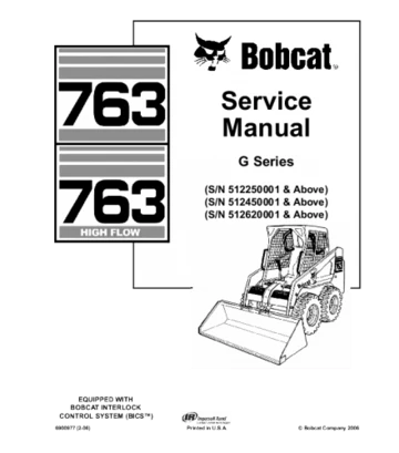 Bobcat 763 skid steer loader service repair manual