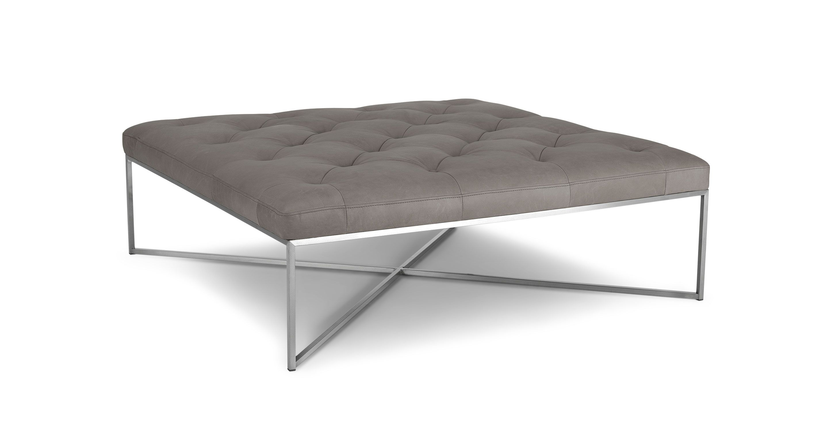 Tablet Lichen Gray Square Ottoman Ottoman Ottoman In Living Room Leather Ottoman Coffee Table [ 1500 x 2890 Pixel ]
