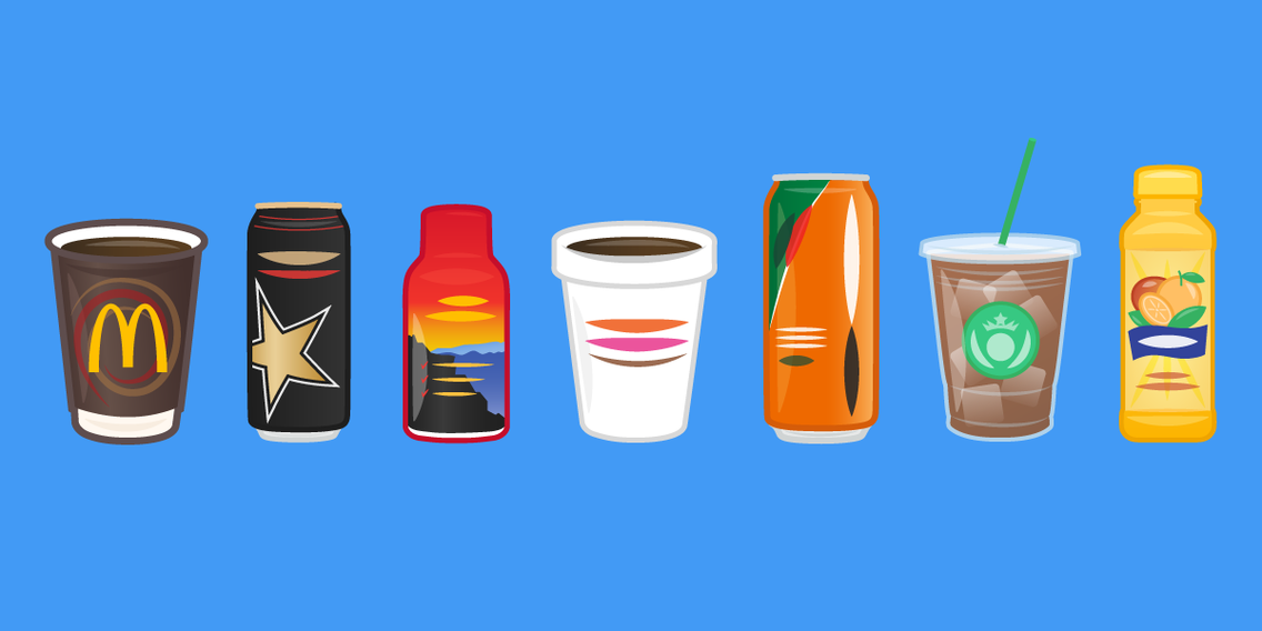 12 drinks with more caffeine than a can of Red Bull Red