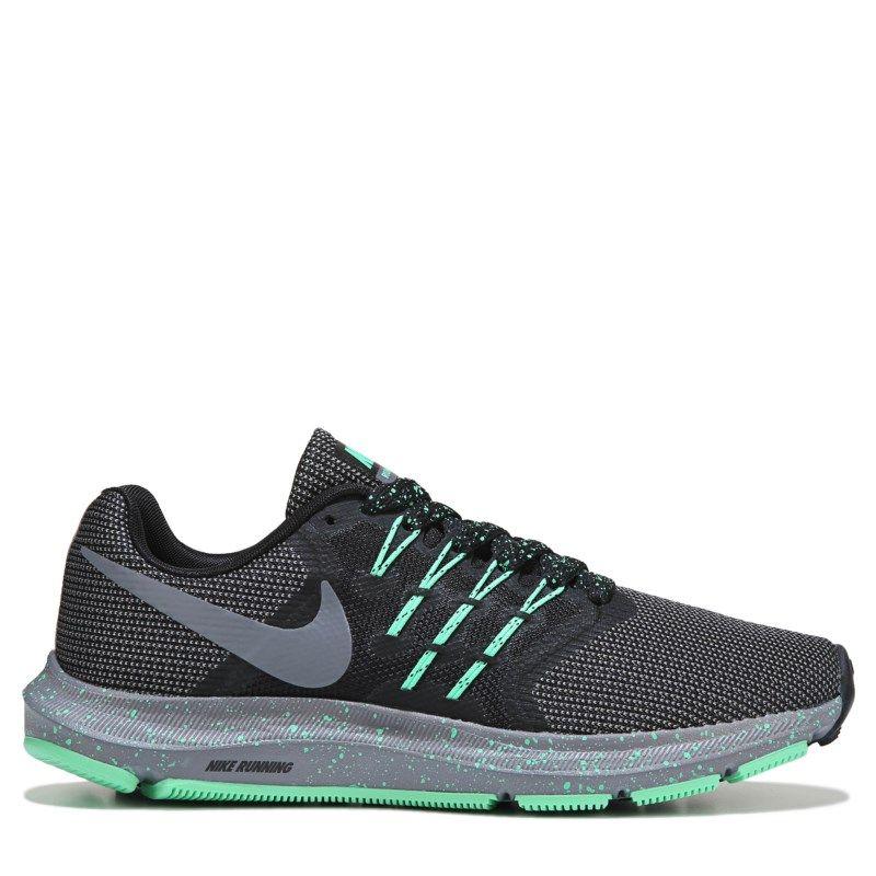 a33b9a925955 Nike Women s Run Swift Wide Running Shoes (Black Gunsmoke Green)