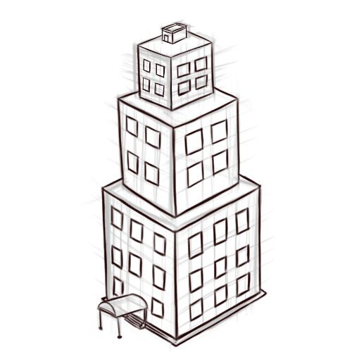 how to draw alot of buildings