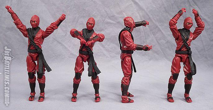 Gijoe Retaliation Red Ninja Action Figure