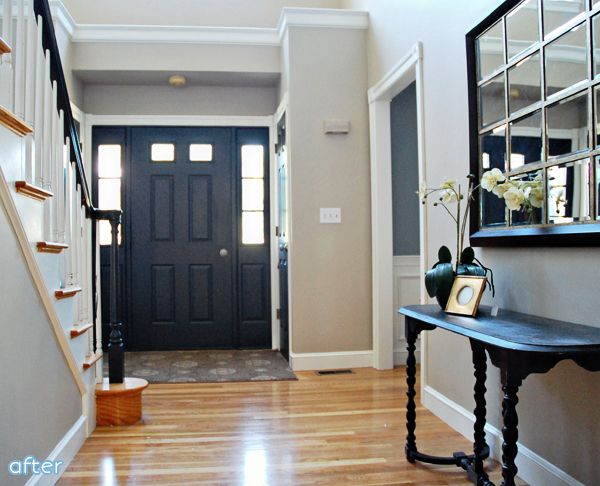 Interior Foyer Doors : Painting the inside of your front door is an instant and