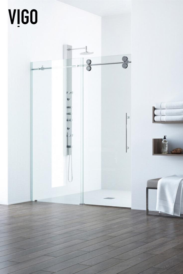 Vigo Elan Adjustable Frameless Sliding Shower Door 2020