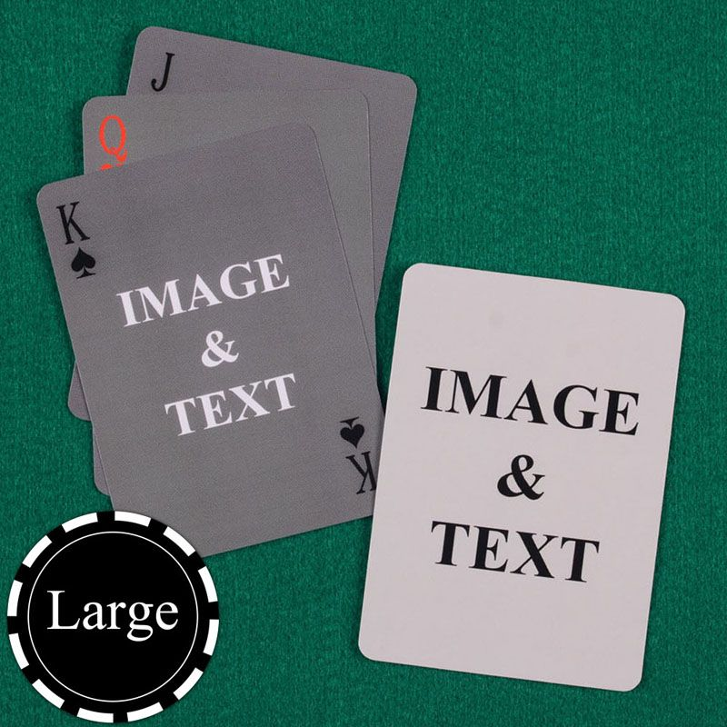 Large Size Simple Custom Front And Back Playing Cards Custom Playing Cards Custom Cards Playing Card Deck