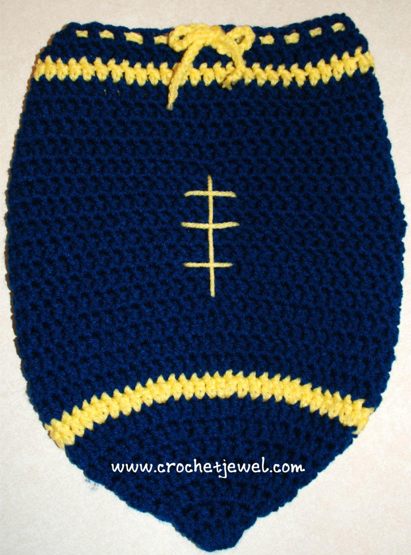 Baby Newborn Football Cocoon ~ Crochet Jewel | C- Baby Blanket ...
