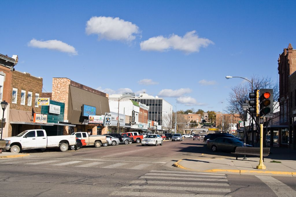 pierre south dakota - downtown! the candy store and many others from long ago reside here, as well as the bagel shop, where you can always stop by and get some coffee or some hot chocolate!