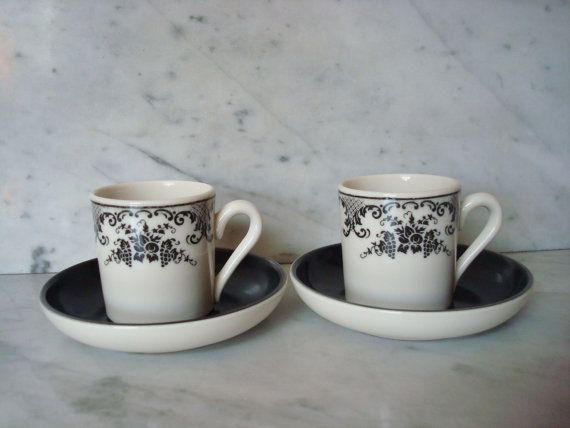 Vintage Set of Mayer China Demitasse Cups and Saucers