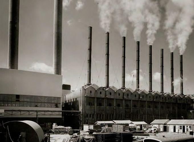 1950's. View of the garbage incinerator at the Papaverweg in Amsterdam-Noord. #amsterdam #1950 #Papaverweg