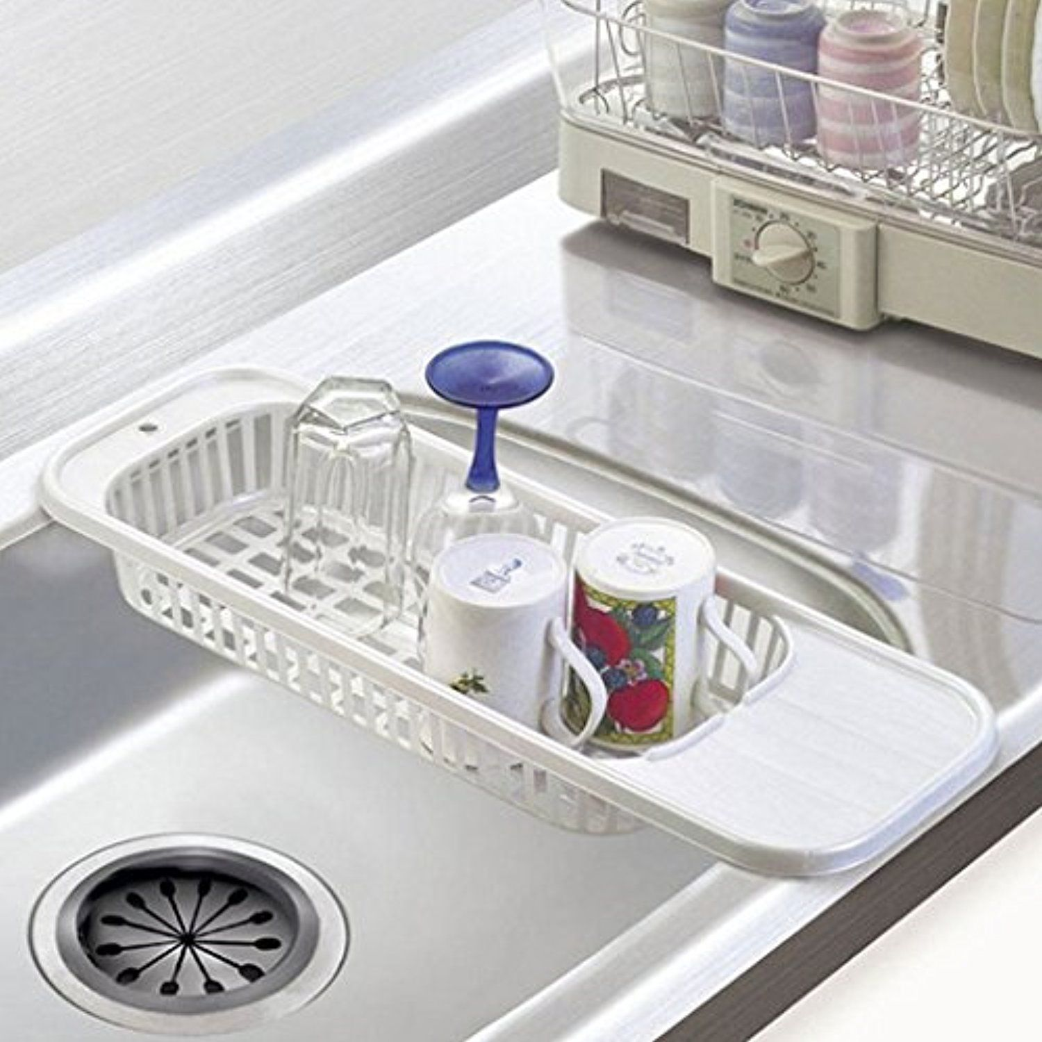 Kitchen Sink Drain Rack Cutlery Shelving Treatment Of Fruits And