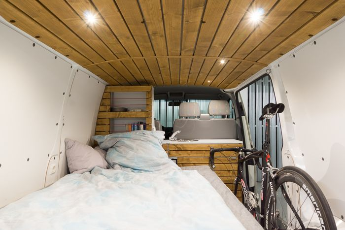 vw t5 transporter campingbus ausbau mit fahrrad diy. Black Bedroom Furniture Sets. Home Design Ideas