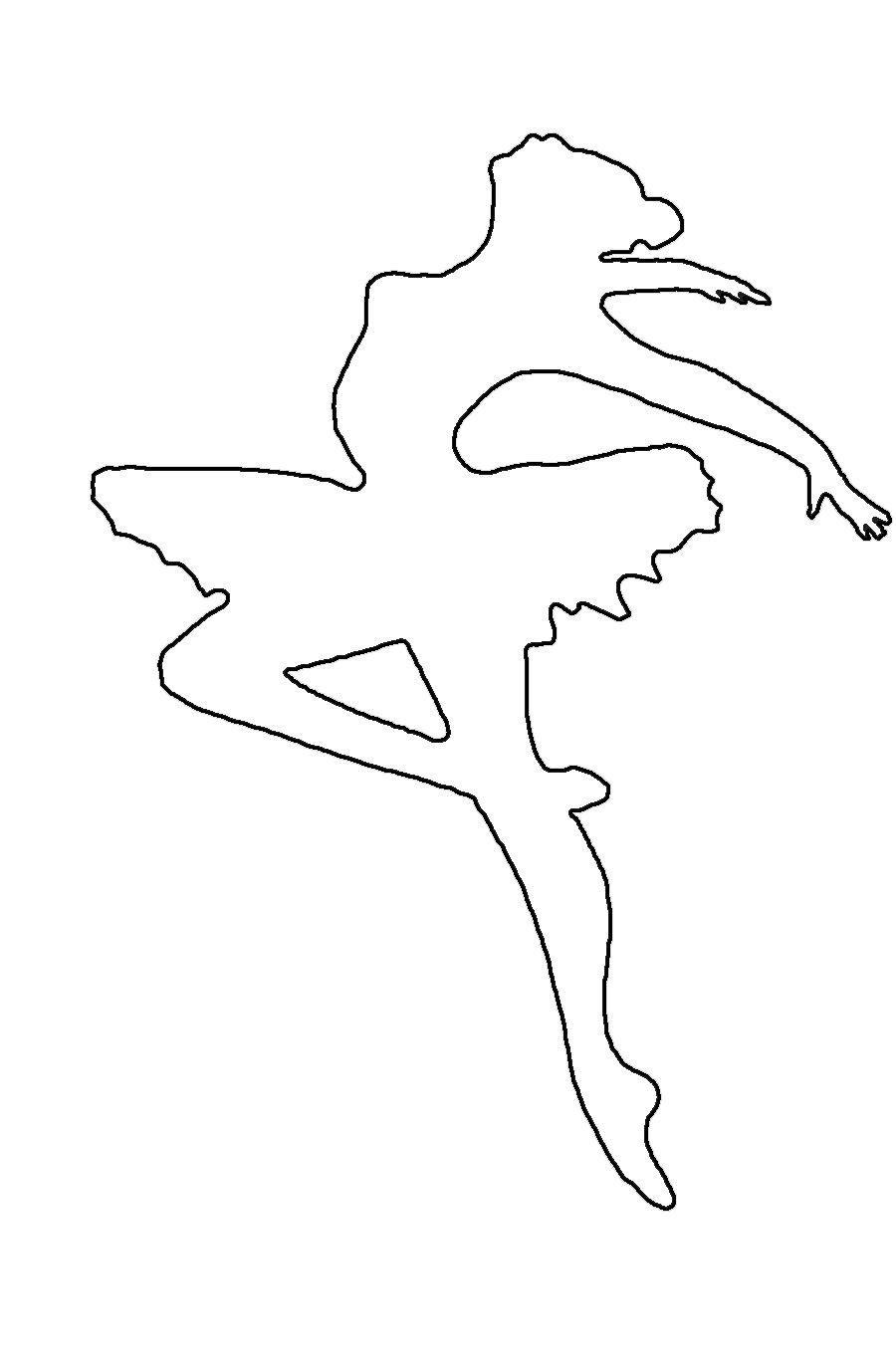 балерины своими руками из бумаги трафарет