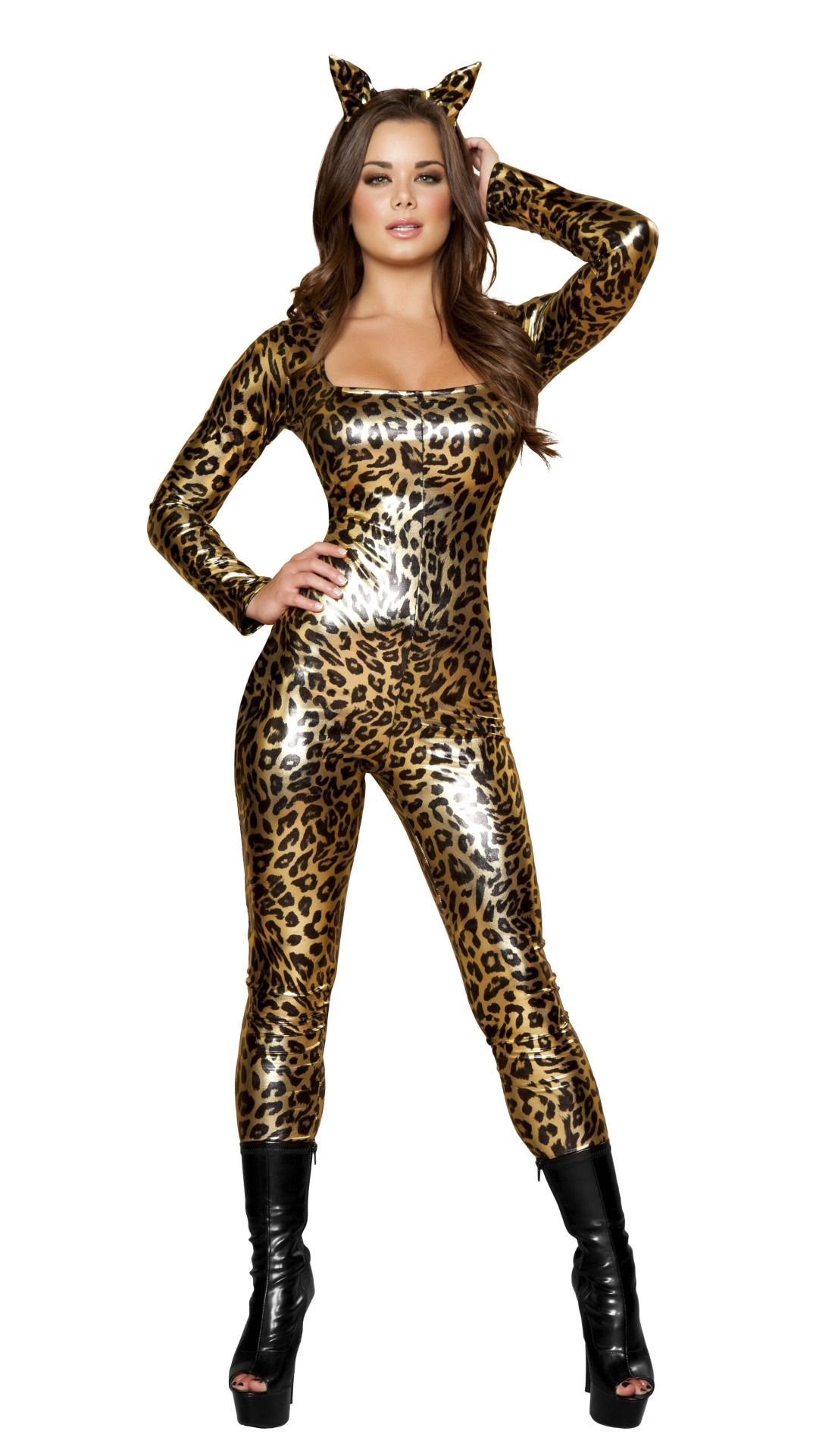 210421b7c34 Metallic Leopard Jumpsuit Halloween Costume