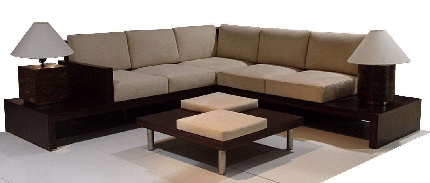 Sectional Sofa In Loose Cushion Sofa Design Living Room