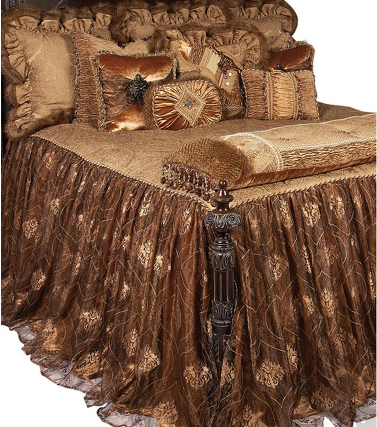 Stunning High End Luxury Bedding Accent Pillows And Accessories By Reilly Chance Collection Champagne Luxury Champagne Bedding In 2019 Bedroom Decor Lux