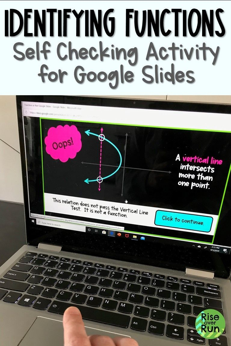Identifying Functions Practice Activity for Google Slides