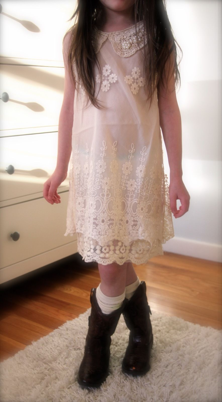 Girls Off White Ivory Vintage Lace Dress Size 3t 4t 5t 6t 7 Sleeveless Lace Dress Vintage Lace Dress Flower Girl Dresses Country [ 1600 x 883 Pixel ]