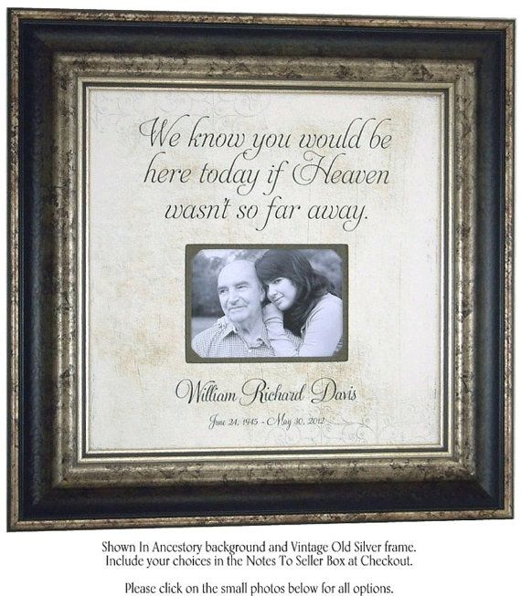 In Memory Of Picture Frame Remembrance by PhotoFrameOriginals ...